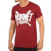 /achat-t-shirts/hornet-la-frappe-tee-shirt-logo-bordeaux-103244.html