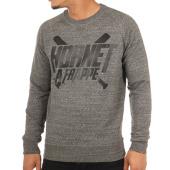 /achat-sweats-col-rond-crewneck/hornet-la-frappe-sweat-crewneck-logo-anthracite-chine-103284.html