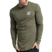 /achat-t-shirts-manches-longues/siksilk-tee-shirt-manches-longues-oversize-gym-11223-vert-kaki-103448.html