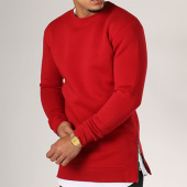 /achat-sweats-col-rond-crewneck/lbo-sweat-crewneck-oversize-zip-199-rouge-103575.html