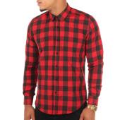 /achat-chemises-manches-longues/lbo-chemise-manches-longues-slim-fit-159-carreaux-noir-rouge-103638.html