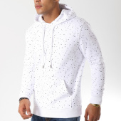 /achat-sweats-capuche/lbo-sweat-capuche-224-speckle-blanc-104447.html