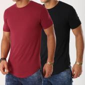 /achat-t-shirts-longs-oversize/lbo-lot-de-2-tee-shirts-oversize-251-bordeaux-et-noir-105374.html