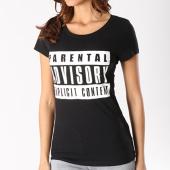 /achat-t-shirts/parental-advisory-tee-shirt-femme-classic-logo-noir-105464.html