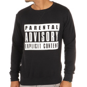 /achat-sweats-col-rond-crewneck/parental-advisory-sweat-crewneck-classic-logo-noir-105467.html