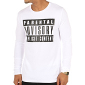/achat-t-shirts-manches-longues/parental-advisory-tee-shirt-manches-longues-classic-logo-blanc-105474.html