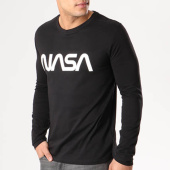 /achat-t-shirts-manches-longues/nasa-tee-shirt-manches-longues-worm-logo-noir-105610.html