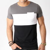 /achat-t-shirts-poche/lbo-tee-shirt-poche-189-gris-blanc-noir-107259.html