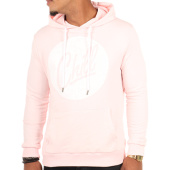 /achat-sweats-capuche/luxury-lovers-sweat-capuche-poche-circle-chill-speckle-rose-109136.html