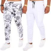 /achat-pantalons-joggings/y-et-w-pantalon-jogging-reversible-marin-blanc-109182.html