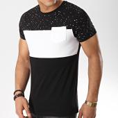 /achat-t-shirts-poche/lbo-tee-shirt-poche-289-noir-blanc-speckle-109567.html