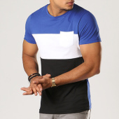/achat-t-shirts-poche/lbo-tee-shirt-poche-274-noir-blanc-bleu-110100.html