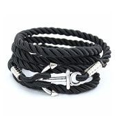 /achat-bracelets/california-jewels-bracelet-anchor-wrap-rope-noir-75704.html
