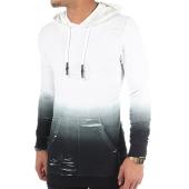 /achat-sweats-capuche/john-h-sweat-capuche-oversize-s09171-blanc-degrade-noir-82587.html