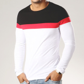 /achat-t-shirts-manches-longues/lbo-tee-shirt-manches-longues-tricolore-322-noir-blanc-rouge-112269.html