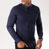 /achat-chemises-manches-longues/lbo-chemise-manches-longues-slim-fit-293-bleu-marine-112276.html