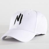 /achat-casquettes-de-baseball/ninho-casquette-logo-blanc-noir-112452.html