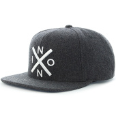 /achat-snapbacks/nixon-casquette-snapback-exchange-gris-anthracite-116558.html