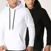 /achat-sweats-capuche/lbo-lot-de-2-sweats-capuche-333-blanc-et-noir-117203.html