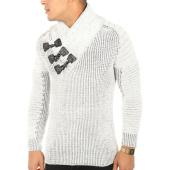 /achat-pulls/john-h-pull-557-blanc-noir-chine-118293.html