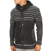 /achat-cardigans-gilets/john-h-gilet-capuche-4007-noir-chine-118355.html