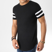 /achat-t-shirts-longs-oversize/lbo-tee-shirt-oversize-avec-bandes-blanches-351-noir-119714.html