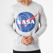 /achat-sweats-col-rond-crewneck/nasa-sweat-crewneck-insignia-front-gris-chine-119685.html