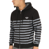 /achat-sweats-zippes-capuche/charo-sweat-zippe-capuche-striped-noir-gris-120981.html