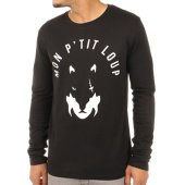 /achat-t-shirts-manches-longues/sofiane-tee-shirt-manches-longues-mon-ptit-loup-noir-blanc-121090.html