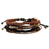/achat-bracelets/icon-brand-lot-de-4-bracelets-b1214-noir-marron-rouge-brique-121855.html
