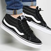 /achat-baskets-basses/vans-baskets-sk8-mid-reissue-b-a391f6bt-black-true-white-122143.html