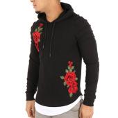 /achat-sweats-capuche/john-h-sweat-capuche-oversize-539-noir-floral-122568.html
