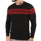 /achat-pulls/john-h-pull-3184-noir-rouge-123033.html