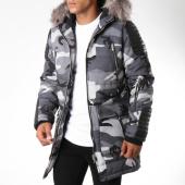 /achat-parkas/project-x-parka-fourrure-88175542-gris-camouflage-123812.html