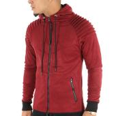 /achat-sweats-zippes-capuche/john-h-sweat-zippe-capuche-suedine-ab13-bordeaux-124159.html