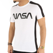 /achat-t-shirts/nasa-tee-shirt-avec-bandes-worm-logo-blanc-noir-124501.html