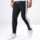 /achat-pantalons-joggings/lbo-pantalon-jogging-poly-354-noir-bandes-blanches-124745.html