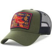 /achat-trucker/von-dutch-casquette-trucker-dragon-vert-kaki-bleu-marine-125425.html