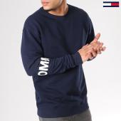 /achat-sweats-col-rond-crewneck/tommy-hilfiger-jeans-sweat-crewneck-essential-banded-logo-4240-bleu-marine-126305.html