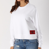 /achat-sweats-col-rond-crewneck/calvin-klein-sweat-crewneck-femme-harrisi-true-icon-blanc-127793.html