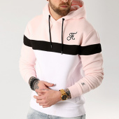 /achat-sweats-capuche/final-club-sweat-capuche-tricolore-avec-broderie-035-blanc-noir-rose-127957.html