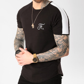 /achat-t-shirts-longs-oversize/final-club-tee-shirt-premium-fit-avec-bande-et-broderie-038-noir-127958.html