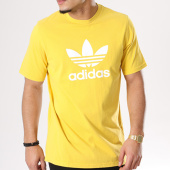 /achat-t-shirts/adidas-tee-shirt-trefoil-cw0706-jaune-blanc-128011.html
