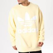 /achat-sweats-longs-oversize/adidas-sweat-crewneck-oversize-trefoil-cw1239-jaune-pale-128107.html
