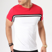 /achat-t-shirts/lbo-tee-shirt-avec-bandes-400-rouge-blanc-128415.html