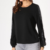 /achat-t-shirts-manches-longues/only-tee-shirt-manches-longues-bande-brodee-femme-madison-noir-129045.html