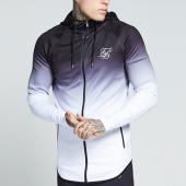/achat-vestes/siksilk-veste-zippee-capuche-oversize-athlete-noir-degrade-blanc-129255.html
