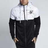 /achat-vestes/siksilk-veste-zippee-capuche-oversize-interlock-noir-blanc-129257.html