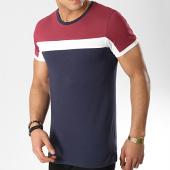 /achat-t-shirts/lbo-tee-shirt-tricolore-411-bleu-marine-blanc-bordeaux-129491.html