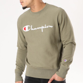 /achat-sweats-col-rond-crewneck/champion-sweat-crewneck-210975-vert-kaki-129628.html